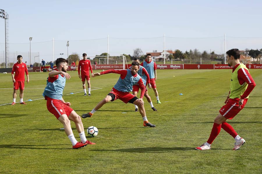 Entrenamiento del Sporting (12/04/18)