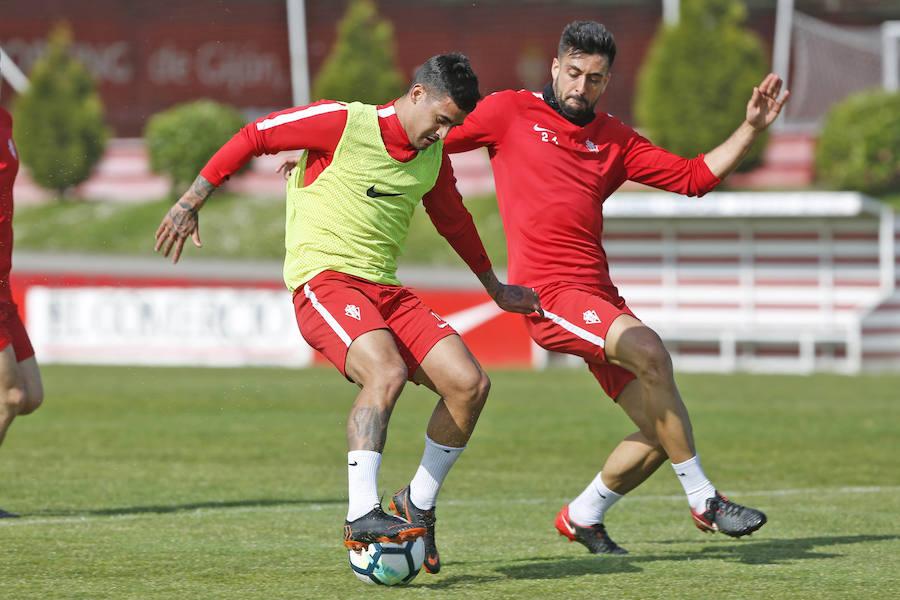 Entrenamiento del Sporting (14/04/2018)