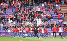 Así fue la llegada del Sporting al José Zorrilla