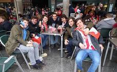 Vídeo: la afición del Sporting toma las calles de Valladolid
