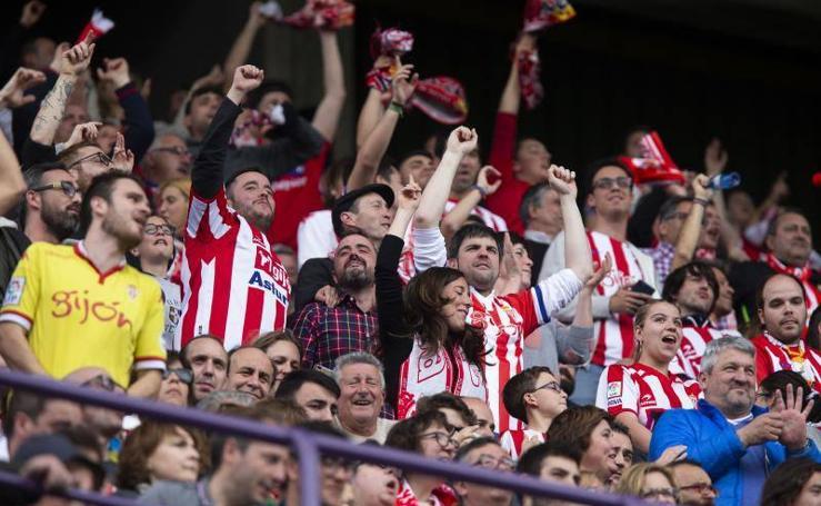 Las mejores imágenes del encuentro entre el Valladolid y el Sporting