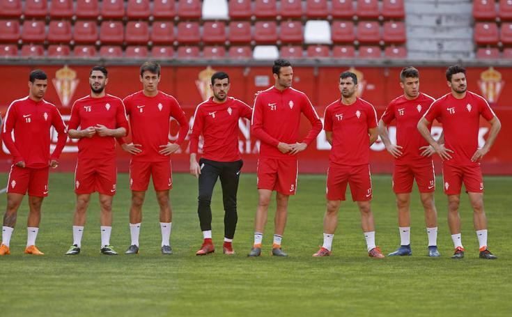 Entrenamiento del Sporting (19-04-2018)
