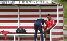 Sporting | El pisotón sufrido por Nano Mesa en la víspera se queda en susto