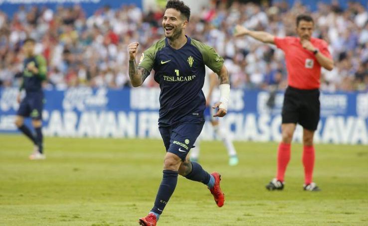 Zaragoza 2-1 Sporting, en imágenes