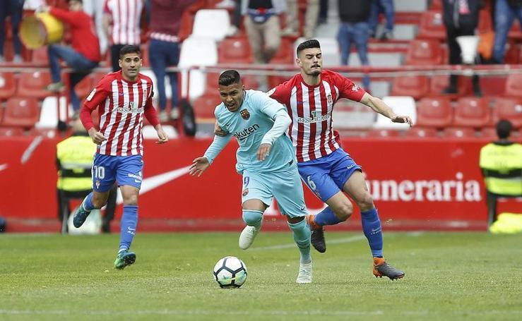 Sporting - Barcelona B, en imágenes