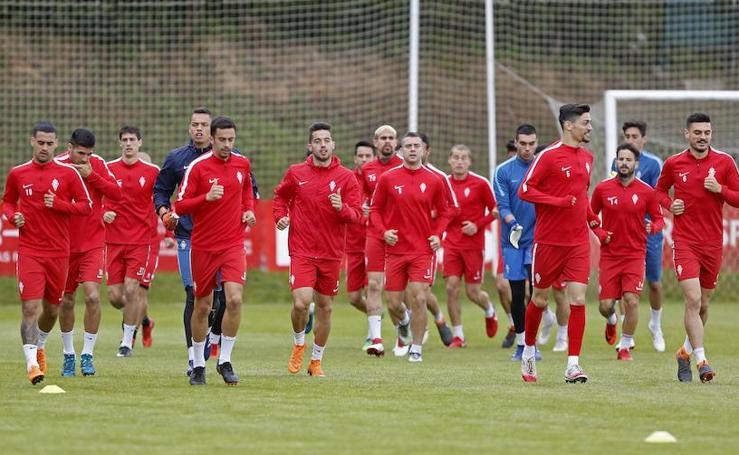 Entrenamiento del Sporting (16-05-2018)