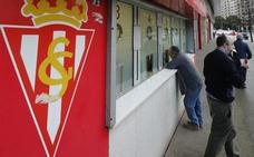 Las taquillas de El Molinón comienzan a agotar el papel para el Sporting - Granada