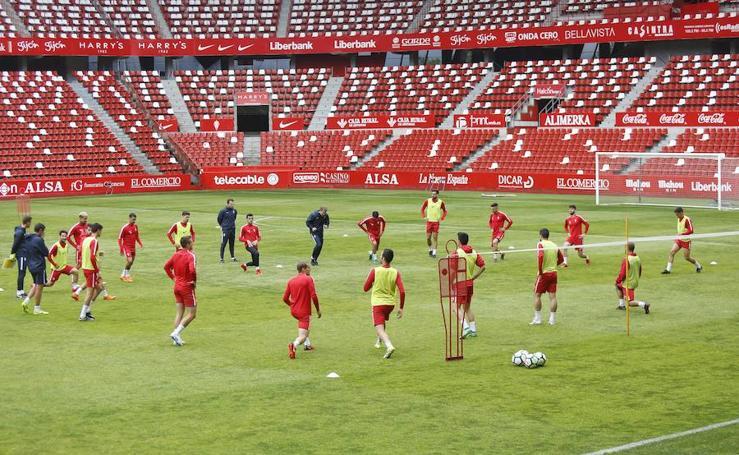Entrenamiento del Sporting (25-05-2018)