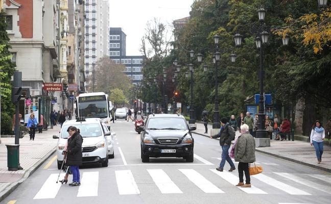 Oviedo refuerza la seguridad vial en seis calles del centro