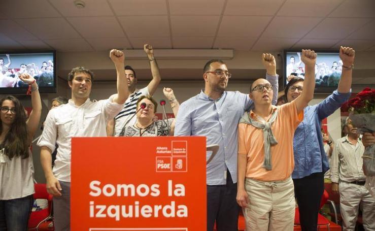Acto de presentación de la candidatura de Adrián Barbón a la dirección de la FSA