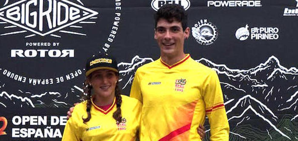 Javier San Román y Miriam Alcántara se proclaman campeones del Open de España de Enduro en Tuña