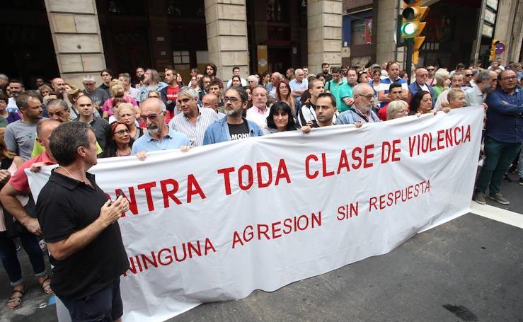 Concentración en apoyo a Germán en Gijón