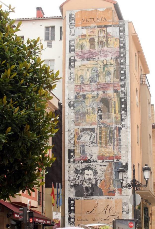 Aspecto actual del mural de 'Clarín' en Santa Clara.