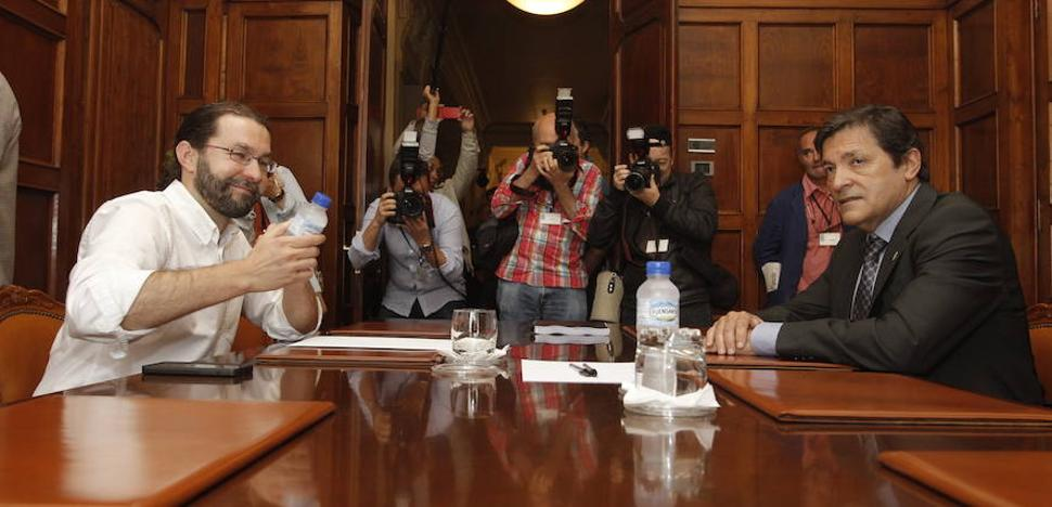 El Principado cree que la «evolución» del PSOE y Podemos «justifica» un pacto en Asturias