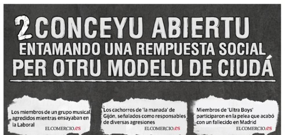 Cuarenta entidades se unen para reclamar un modelo de ciudad «pacífica y segura» tras la agresión a Germán
