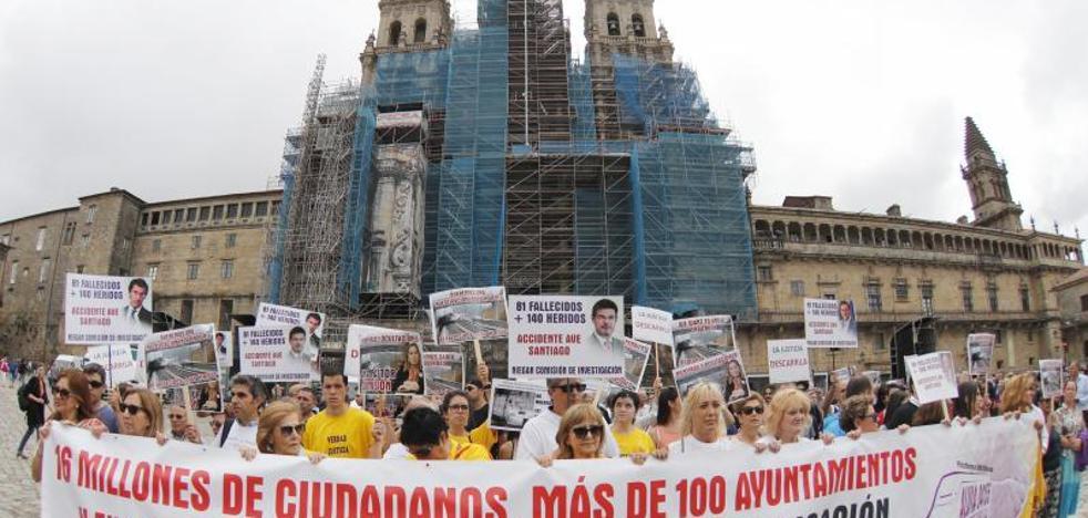 Las víctimas del Alvia marchan para exigir «justicia» cuatro años después