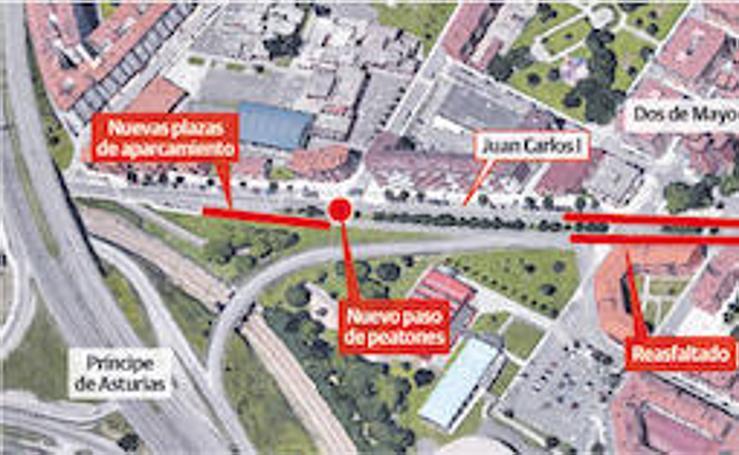 Juan Carlos I será reasfaltada del Museo del Ferrocarril a la piscina de Moreda