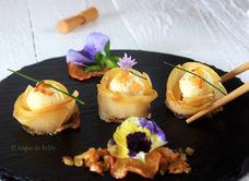 Sushi de manzanas asturianas y capricho de Bacalao