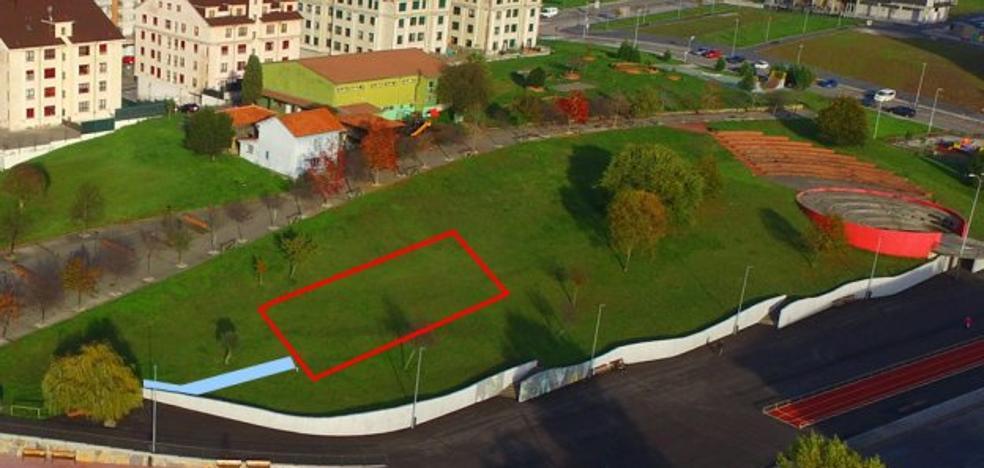 La pista multideporte del parque Europa 450 metros cuadrados