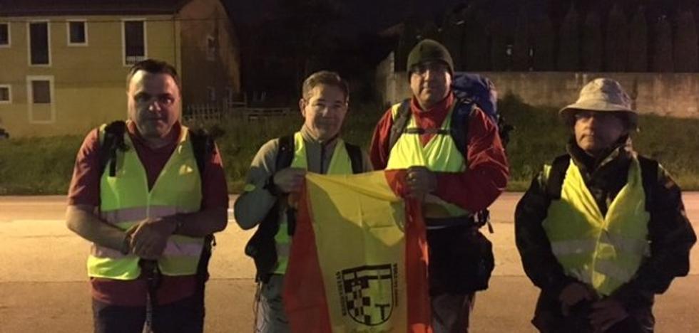 La asociación ARES de reservistas inicia una marcha hasta Covadonga