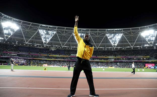 Bolt, en su despedida en Londres. /REUTERS