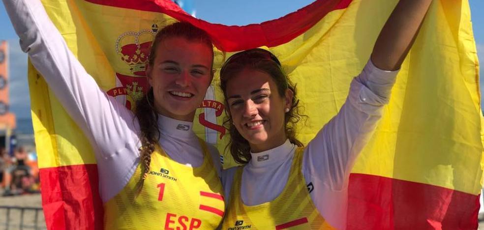 La gijonesa Daniela Álvarez, tercera con la Selección Española en el Sub21 de voley playa