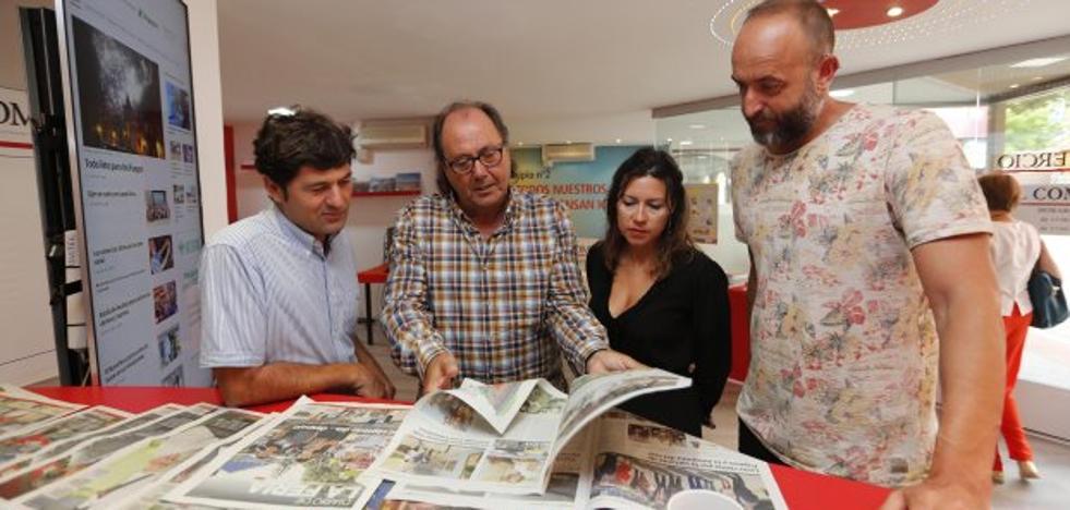 Xixón Sí Puede resalta su apoyo a la Feria en el estand de EL COMERCIO