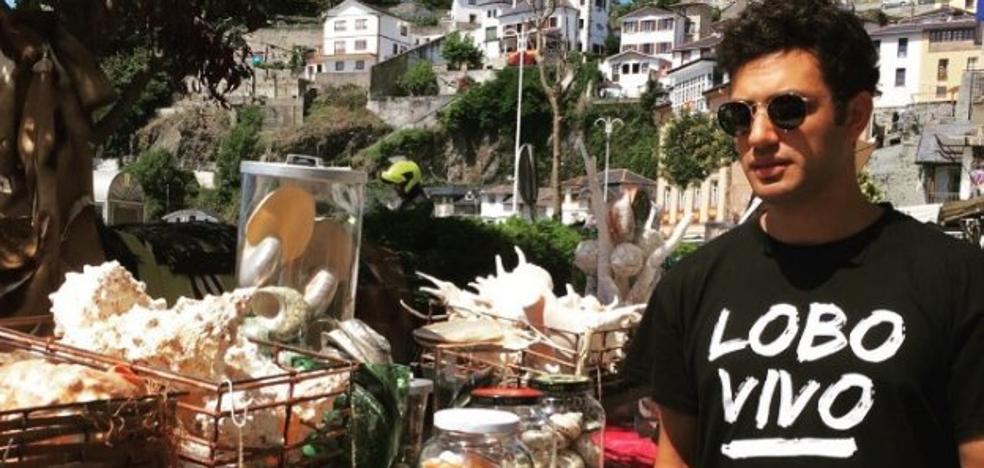 El actor Samy Khalil disfruta de Asturias