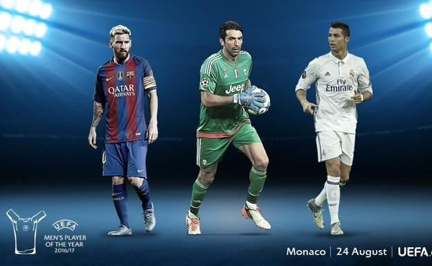 Messi, Buffon y Cristiano