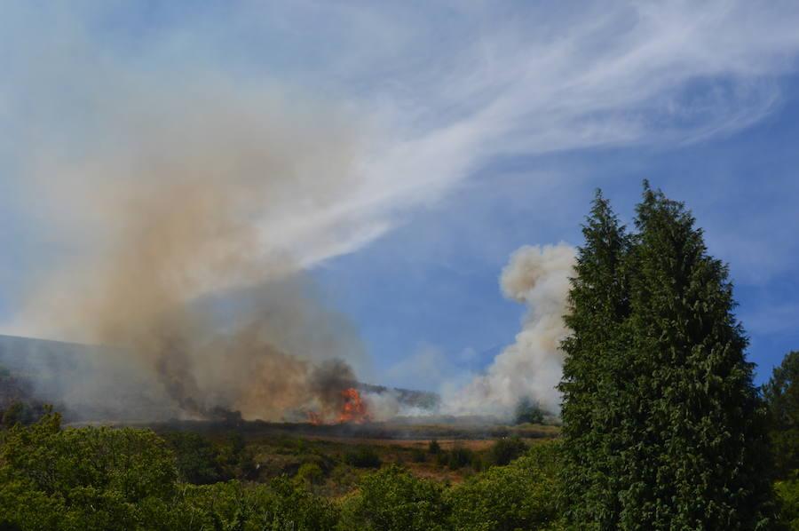 Incendio en Otás, Cangas del Narcea