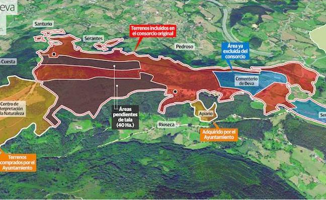 Gijón ultima un acuerdo para recuperar la «plena soberanía» sobre el Monte Deva