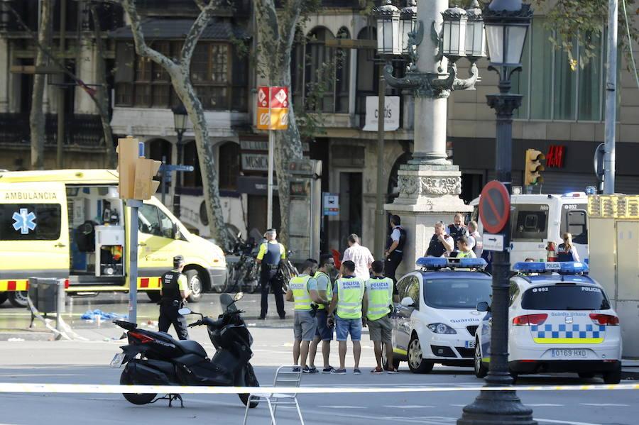 Las imágenes del atentado en Las Ramblas de Barcelona