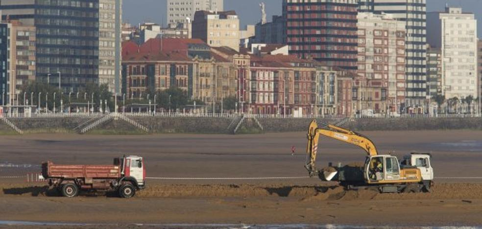 Buscan arena para San Lorenzo en la bahía de Gijón y frente a Rodiles
