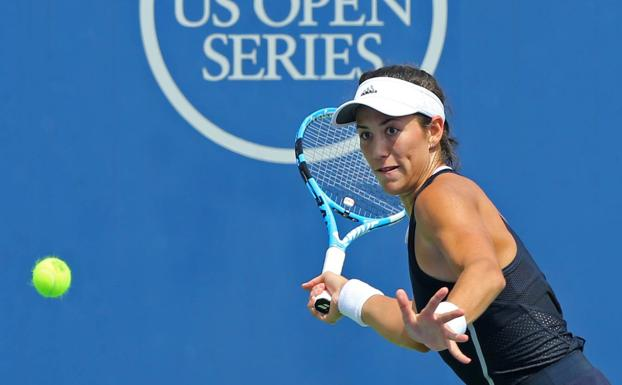 Muguruza, durante el partido./USA TODAY Sports