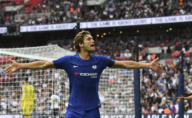 Alonso, tras anotar el 1-2 en Wembley /AFP