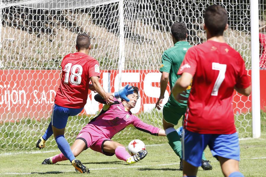 El Sporting B 1-0 Gernika, en imágenes