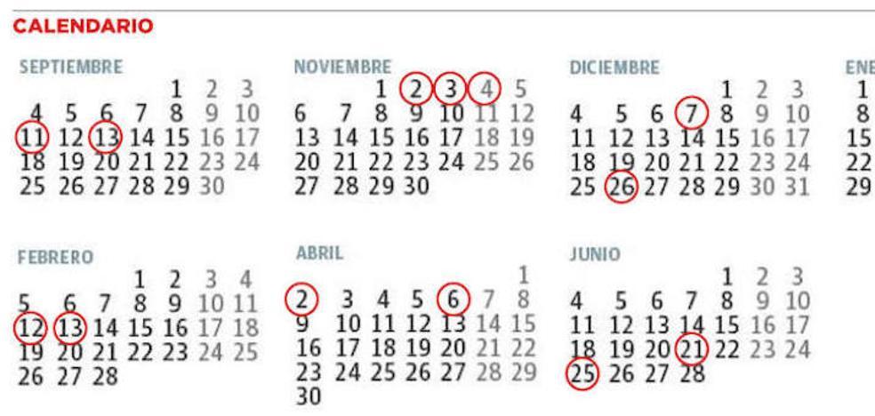 Calendario del curso escolar 2017-2018 en Asturias | Primaria comienza las clases el 11 de septiembre y Secundaria, el 13