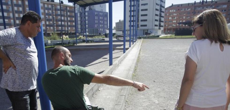 El PP reclama mejorar la accesibilidad de las pistas de petanca de La Corredoria