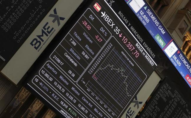 El Ibex-35 sufre para recuperar los 10.400 puntos