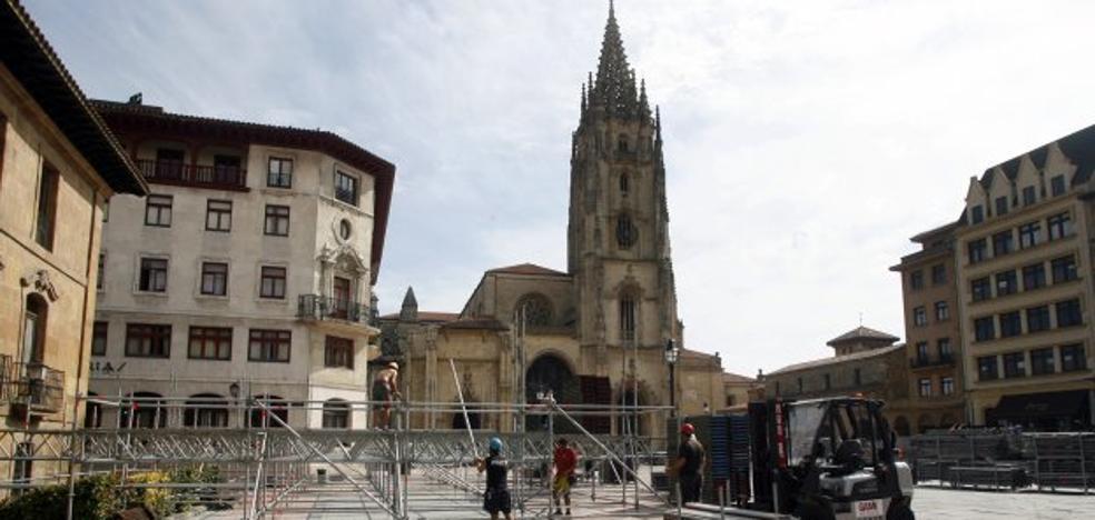GAM oferta montar el escenario de la plaza de la Catedral por 58.264 euros