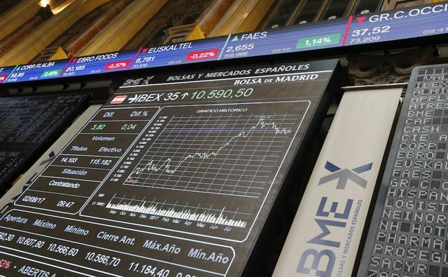 Con pies de plomo: El Ibex-35 deja para otro día los 10.400 puntos