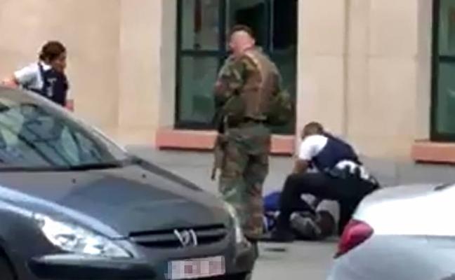 Un hombre es abatido en Bruselas después de atacar con un machete a un grupo de soldados