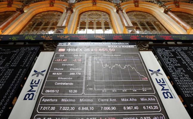 El Ibex-35 pierde los 10.300 por el Harvey y por los máximos del euro