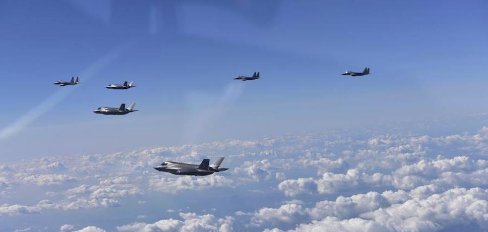 Demostración de fuerza del Ejército estadounidense frente a Corea del Norte
