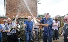 La sidra riega la celebración en Poreñu