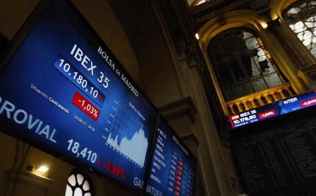 El Ibex cae de los 10.200 y marca mínimos desde marzo