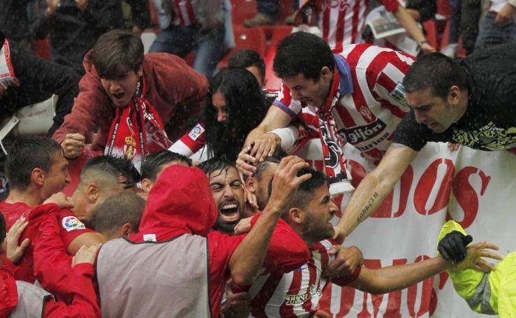 Las imágenes del derbi asturiano, Sporting - Oviedo