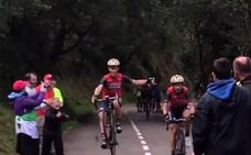 Iván Cortina celebra su primera Vuelta en L'Angliru