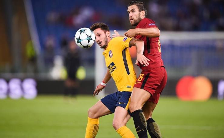 Roma-Atlético, en imágenes
