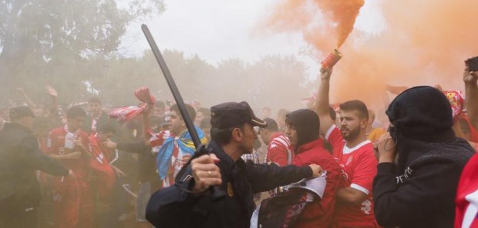 «Los ultras implicados en los disturbios no volverán a entrar en El Molinón»